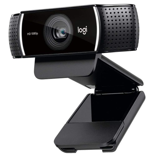 Logitech C922 Pro Stream Webcam, HD 1080p/30fps or HD 720p/60fps Hyperfast Streaming, Stereo Audio, HD Light Correction, Autofocus, for YouTube, Twitch, XSplit, PC/Mac/Laptop/MacBook/Tablet - Black