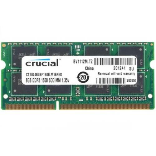 Crucial 8GB Ram DDR3L-1600 SODIMM - CT102464BF160B