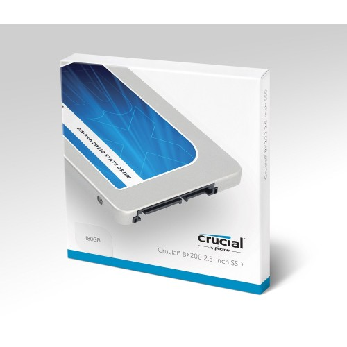 """Crucial BX200 480GB SATA 2.5"""" 7mm (with 9.5mm adapter) Internal SSD CT480BX200SSD1"""