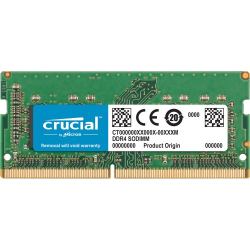 8GB DDR4-2400MHz 1.2V CL17 Crucial - Micron SODIMM