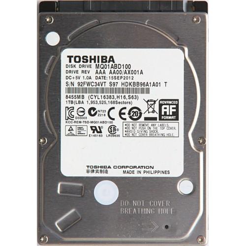 Toshiba 1TB Internal Hard Drive- MQ01ABD100