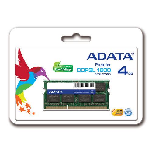 ADATA 4GB DDR3L Laptop RAM PC3L-12800 1600MHz
